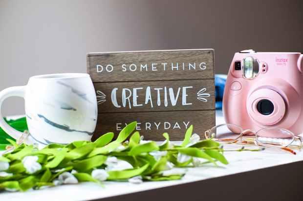 do something creative everyday text